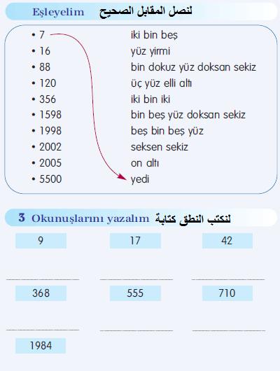 دروس اللغة التركية الثاني