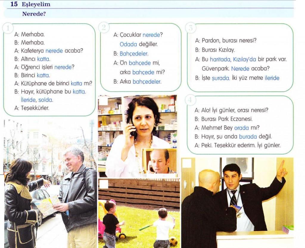 دروس اللغة التركية – الدرس السادس